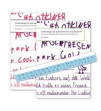 Unterwegs zur persönlichen Handschrift